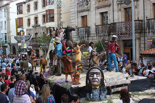 Desfile de carrozas reinosa 2012 fiestas San Mateo