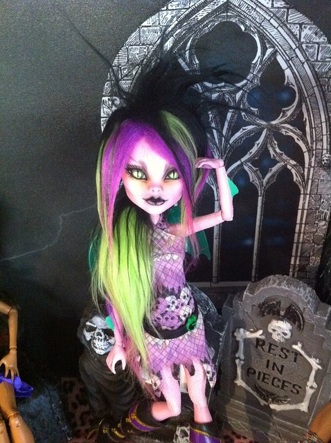 Punk dragon girl monster high