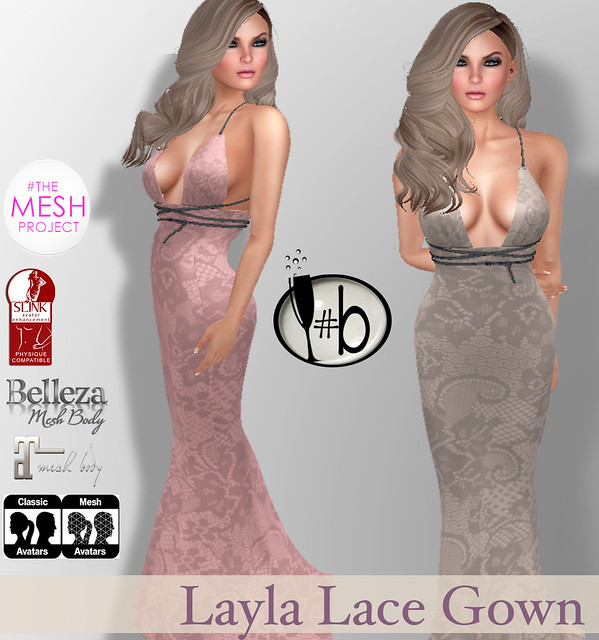 #b Layla Lace Gown