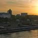 Sunrise in the harbour of Hamburg by pe_ha45