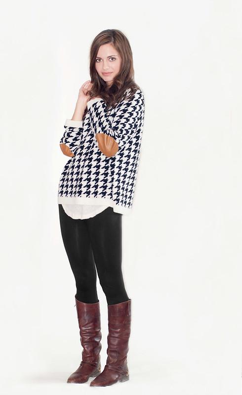 Valentine K Houndstooth Best Friend pullover - $425