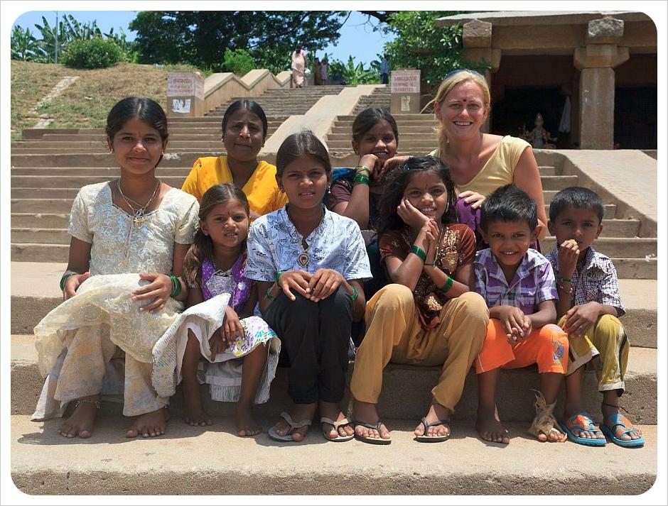 dani with kids in hampi