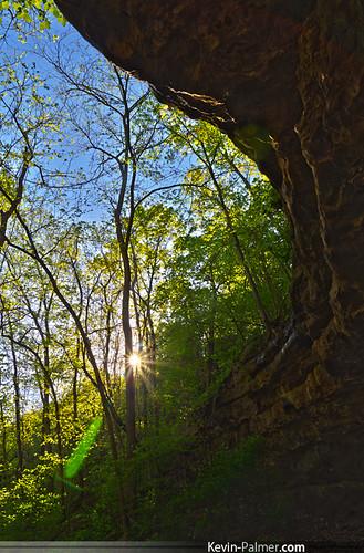 blue trees sky green leaves rock spring pentax naturalbridge missouri flare april cave ozarks hdr kx sunstar hahatonka camdenton tamron1750mmf28