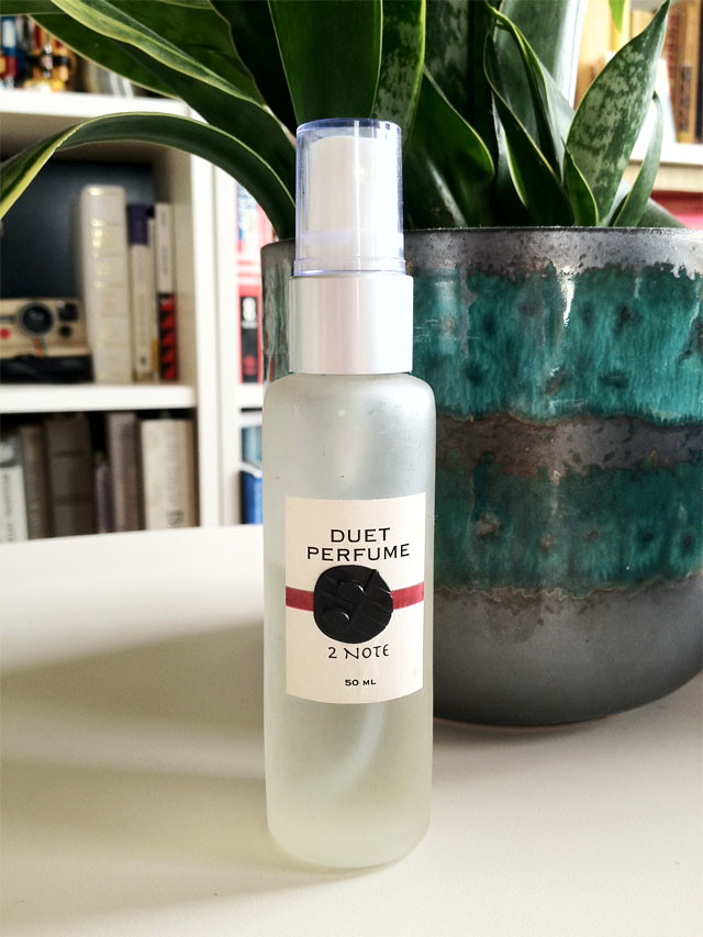 Duet Perfume, One Note Botanical Perfumery, Rachel Mlinarchik, fair vanity fashion blog, eco-blog