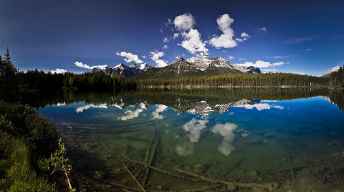 Mount Niblock reflected in Lake Herbert - Jasper National Park - 7-05-12  01a