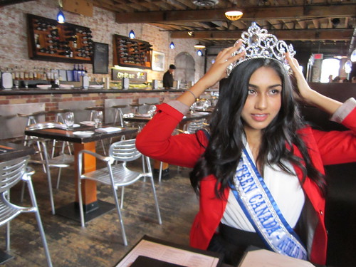 Megha Sandhu dons the crown at Pure Spirits restaurant