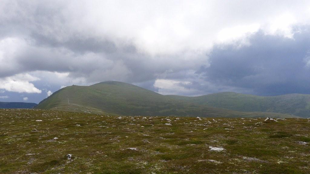Clouds gathering over the Glen Einich hills