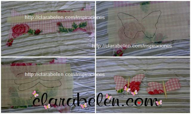Manualidades niños mariposas y libélulas fáciles de tela o servilletas