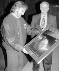 Steven Spielberg gets honored by Daniel Goldin and NASA ET 1982