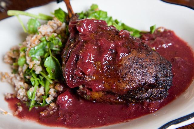 Duck leg in plum sauce, Vesta