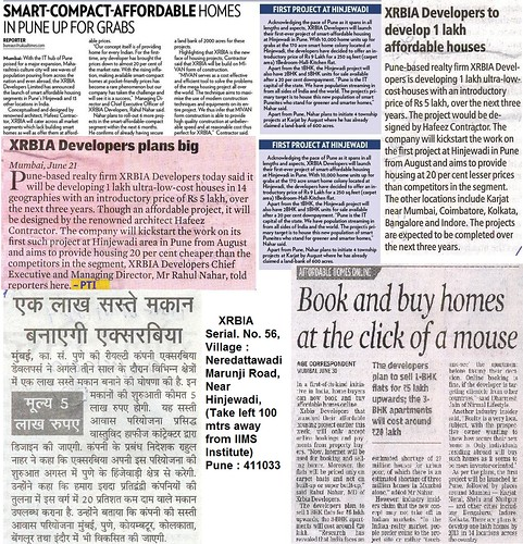 XRBIA Hinjewadi Pune by Hafeez Contractor - In the News by jungle_concrete