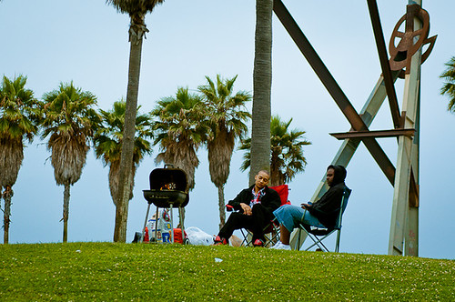 Grilling at Venice Beach