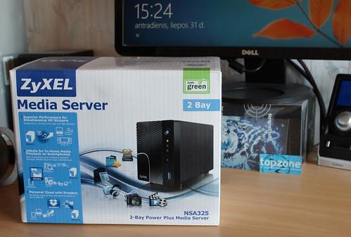 ZyXEL NSA325   namų serveris ir media centras