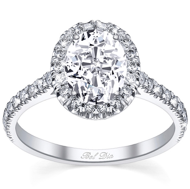 Oval Halo Diamond Ring Setting
