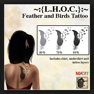 Birds and Feather Tattoo Ad