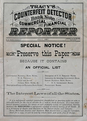 16 - Bank Note Reporter - Tracy - 1881