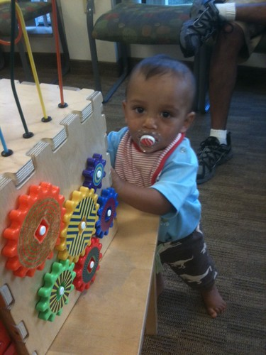 baby at doctors office