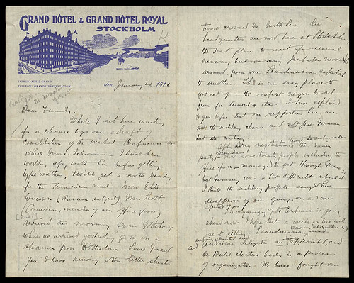 Letter to her family - Author: Julia Grace Wales, Dated: January 26, 1916 (Image offered by BiblioArchives)
