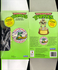 TEENAGE MUTANT NINJA TURTLES :: 5th ANNIVERSARY COLLECTOR TURTLE .. box ii (( 1992 ))