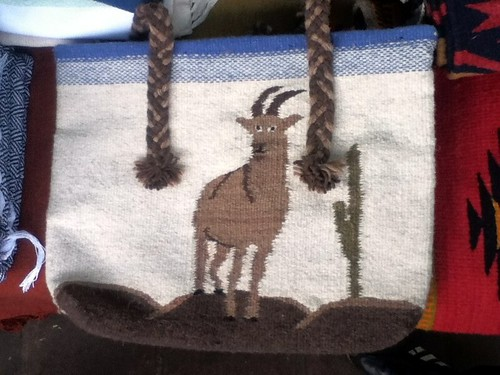 Weaving the Web: Veronica's Woven Goat Bag, Pochimilco Anniversary @ Oaxaca 08.2012