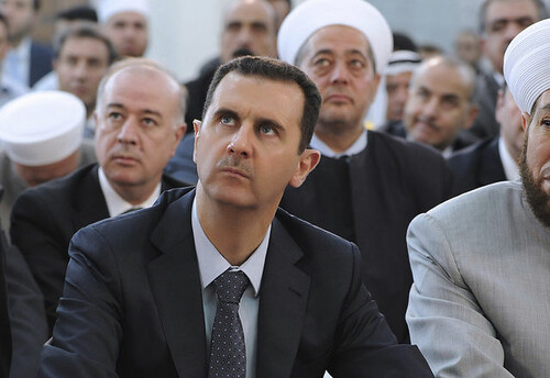 Syrian President Bashar al-Assad was shown on national television. The country is being attacked by a US-backed program of regime-change. by Pan-African News Wire File Photos