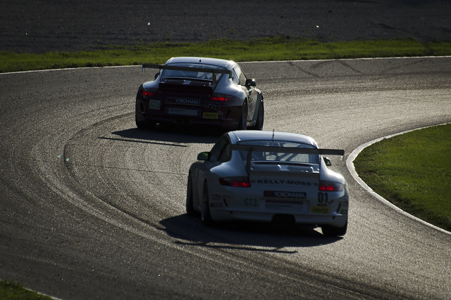 GT3 Cup race at sunset in the Carousel