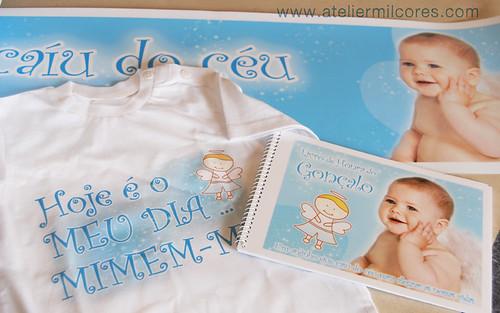 T-shirt, faixa e Livro de Honra Tema Anjinho
