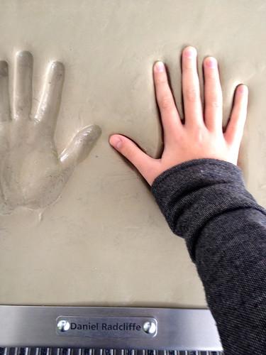 Daniel Radcliffe's handprint…it's smaller than mine!