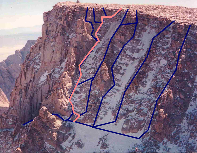 Easiest of routes above The Notch