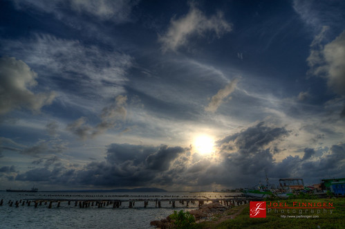 sunset sky clouds kingston hdr hdri