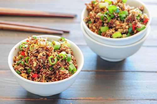 w3 egg fried quinoa | by jules:stonesoup