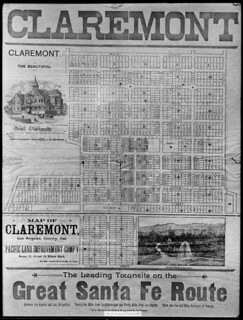 Claremont, California, map from 1888