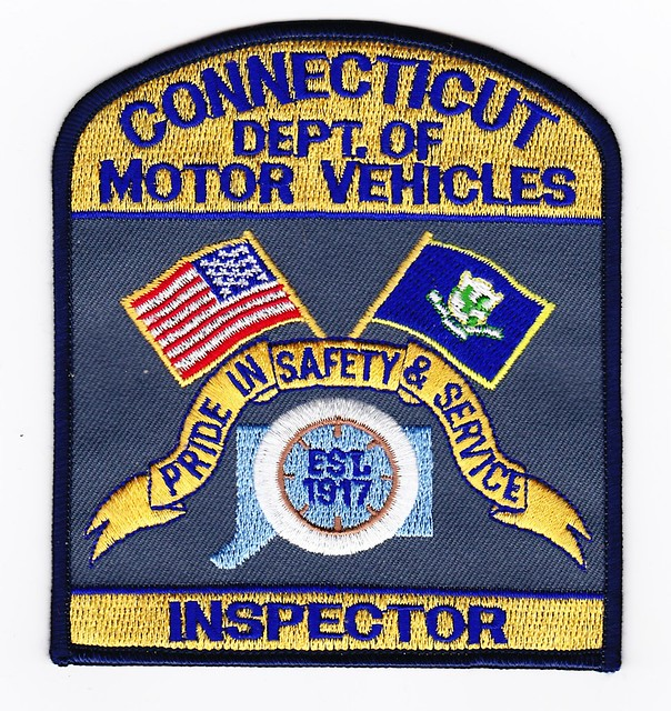 Ct state department of motor vehicles inspector patch for Ohio motor vehicle department
