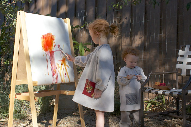 his & hers art smocks