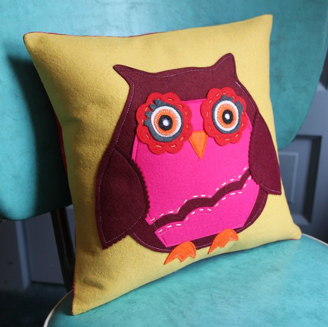 Bright Owl Pillow for Sylvia