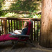 Small photo of Reading in Cazadero