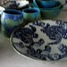 Small photo of Cobalt Leatherback Turtle design salad bowl.