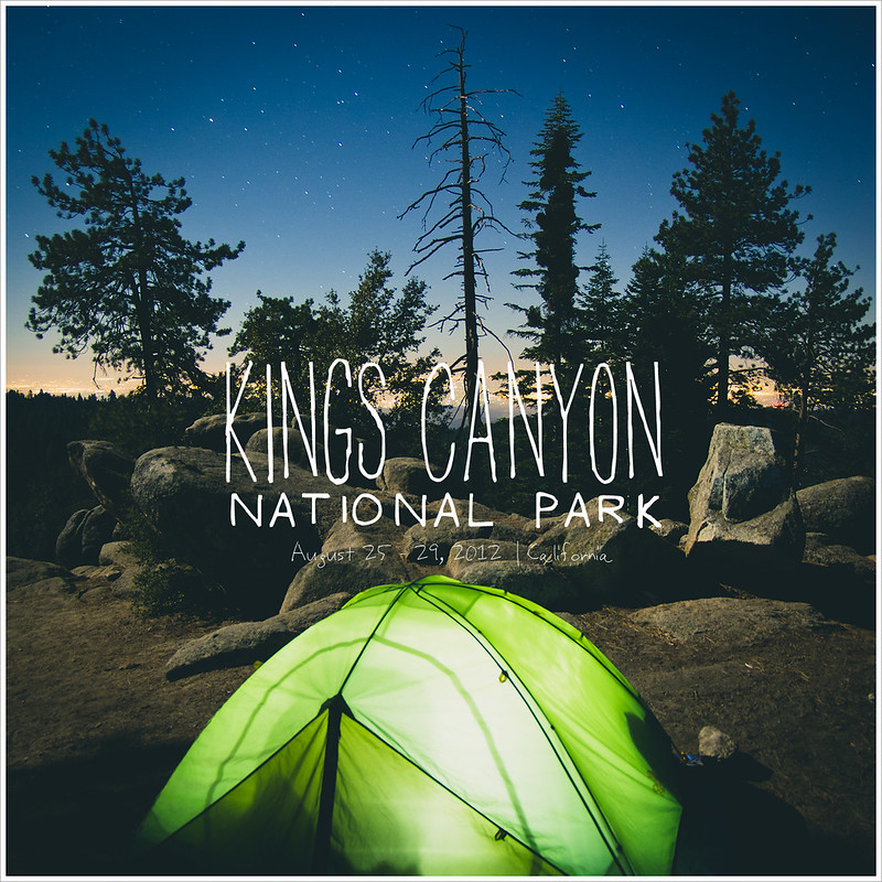 国王峡谷国家公园露营去~