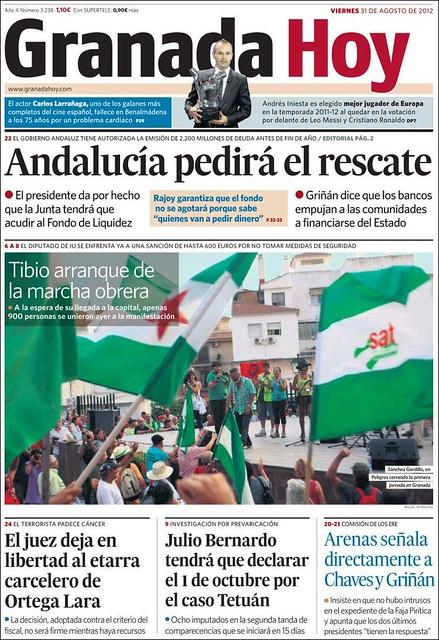 Granada Hoy del 31 de agosto de 2012