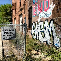 #detroit police parking only gasm #graffiti