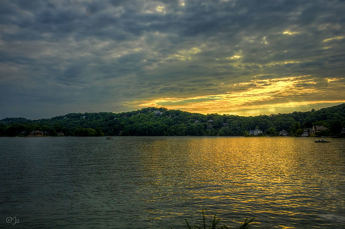 sunset lake clouds mohawk sparta topaz