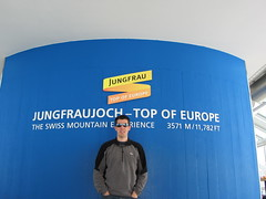 Annemarie in the Sphinx at Jungfraujoch