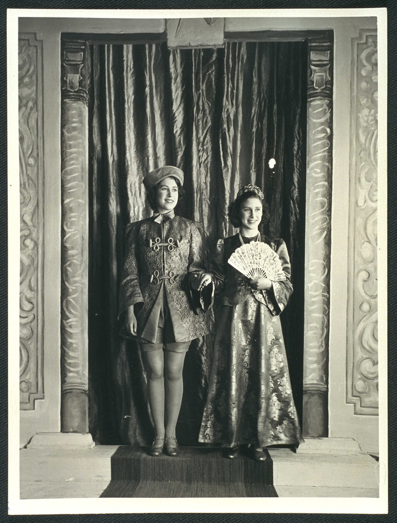 Princesses Elizabeth and Margaret starring in wartime Aladdin, 1943.