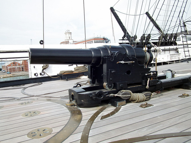 HMS Warrior deck gun