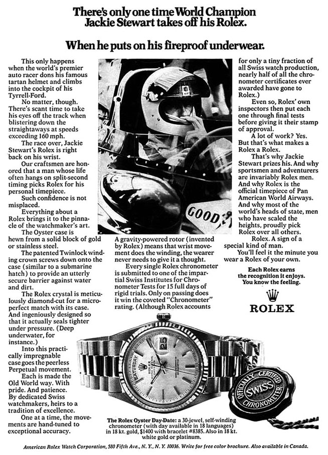 Jackie Stewart_Rolex