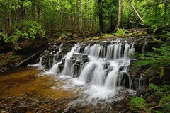 Mosquito Falls - Picture Rocks National Lakeshore by Michigan Nut