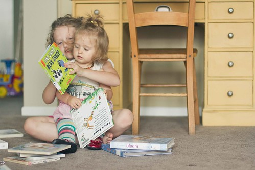 Addie and Vivi Reading