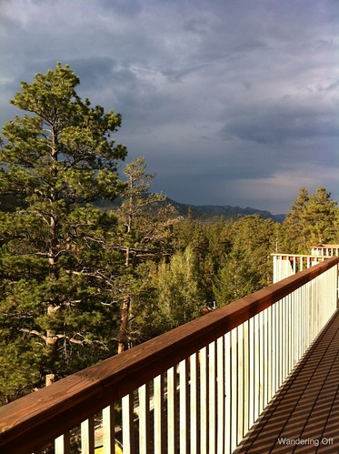 View from our porch. Estes Park, CO