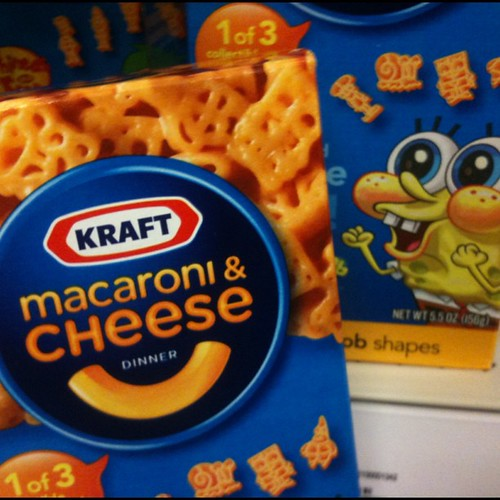 Spongebob Kraft Macaroni & Cheese Box