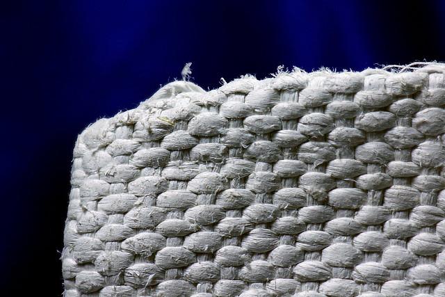 Asbestos Textile Mitt Fibrous Detail